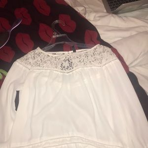 white blouse lacey shirt!